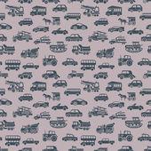 Seamless car pattern — Stock Vector