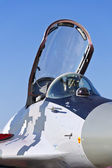 Mikoyan MIG-29 fighter cockpit. — Stock Photo
