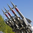 Four rockets of a surface-to-air missile system — Stock Photo