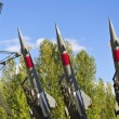 Stock Photo: Rockets of a surface-to-air missile system are aimed in the sky