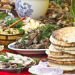 Stock Photo: Festive abundance of food on table
