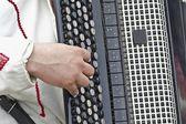 Man playing the accordion — Stock Photo