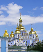 St. Michael's Golden-Domed Monastery - famous church complex in — Stock Photo