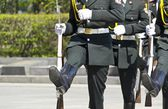 KIEV, UKRAINE - MAY 28 :Soldiers of the honor guard during a tra — Stock Photo