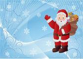 Noel baba büyülü noel tatili — Stok Vektör