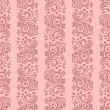 Seamless floral striped pattern - Stock vektor