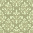 Vector vintage floral seamless pattern element — Stock Vector