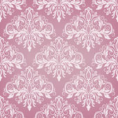 Seamless baroque style damask background — Stock Vector