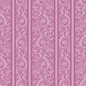 Purple seamless damask Pattern — Stock Vector