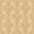 Beige seamless damask Pattern — Stock Vector