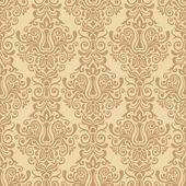 Beige seamless damask Pattern — Stock Vector