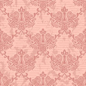 Pink seamless damask Pattern — Stock Vector