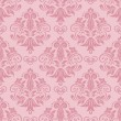 Stock Vector: Pink seamless floral damask Wallpaper
