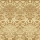 Floral seamless golden background — Stock Vector