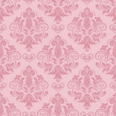 Pink seamless floral damask Wallpaper — Stock Vector