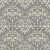 Grey seamless damask Pattern — Stok Vektör