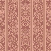 Seamless floral striped pattern — 图库矢量图片