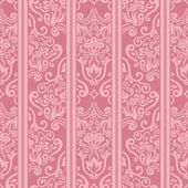 Seamless floral striped pattern — Vector de stock