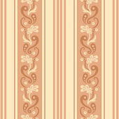 Seamless floral striped pattern — Stock Vector