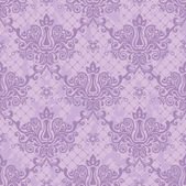 Purple seamless floral damask Wallpaper — Stock Vector