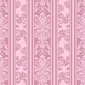 Seamless vintage pattern in pink — Stock Vector