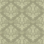 Seamless vintage pattern in green — Stock Vector