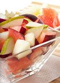 Fresh fruit salad for breakfast — Stock Photo