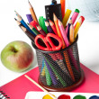 School supplies. Writing utensils. — Stock Photo