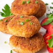 Chicken cutlets with vegetables and herbs — Stock Photo #12665085