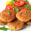 Chicken cutlets with vegetables and herbs — Stock Photo #12665087