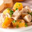 Stock Photo: Stew chicken with vegetables and mushrooms in cream sauce
