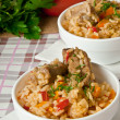 Traditional rice pilaf - Plov — Stock Photo