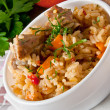 Traditional rice pilaf - Plov — Stock Photo #13179314