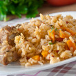Stock Photo: Traditional rice pilaf - Plov