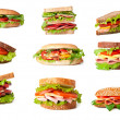 Collage of delicious sandwiches. — Stock Photo #13712982