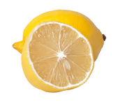 Två citroner isolerad på vit — Stockfoto