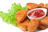 Nuggets de frango frito perfumado fresco — Foto Stock