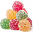 Jujube colored balls on a white background — Stock Photo