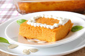 Pumpkin pudding — Stock Photo
