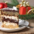 Christmas cakes on wooden background — 图库照片