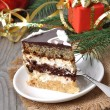 Stock Photo: Christmas cakes on wooden background