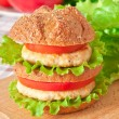 Stock Photo: Burger fast food