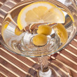 Martini with olives and lemon — Stock Photo