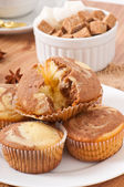 Marble muffins — Stock Photo