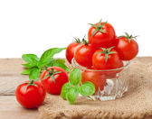 Cherry tomatoes in a bowl — Stock Photo