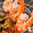 Cocktail with seafoods — Stock Photo