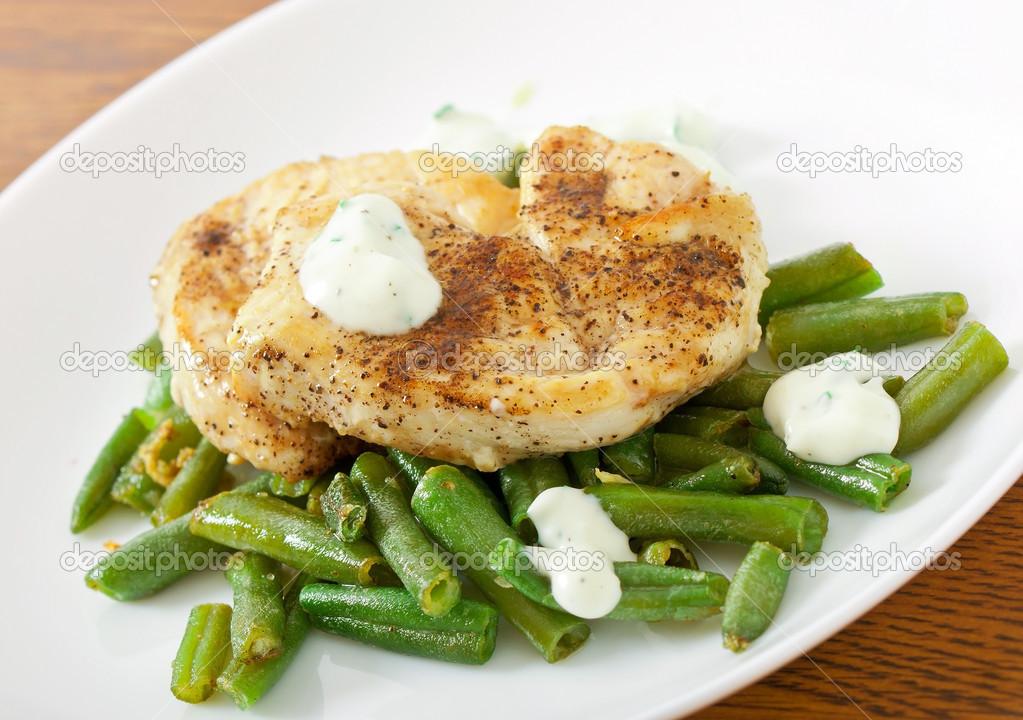 Куриная грудка с зеленой фасолью рецепты