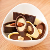 Chocolate candy with nuts — Stock fotografie