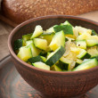 Steamed zucchini with spices — Stock Photo