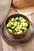 Steamed zucchini with spices — Stok fotoğraf